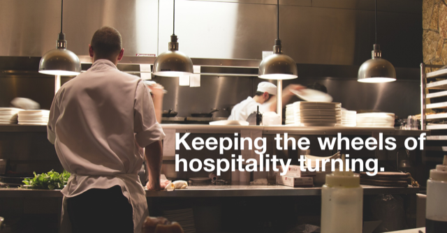 The importance of keeping the wheels turning in a commercial kitchen.